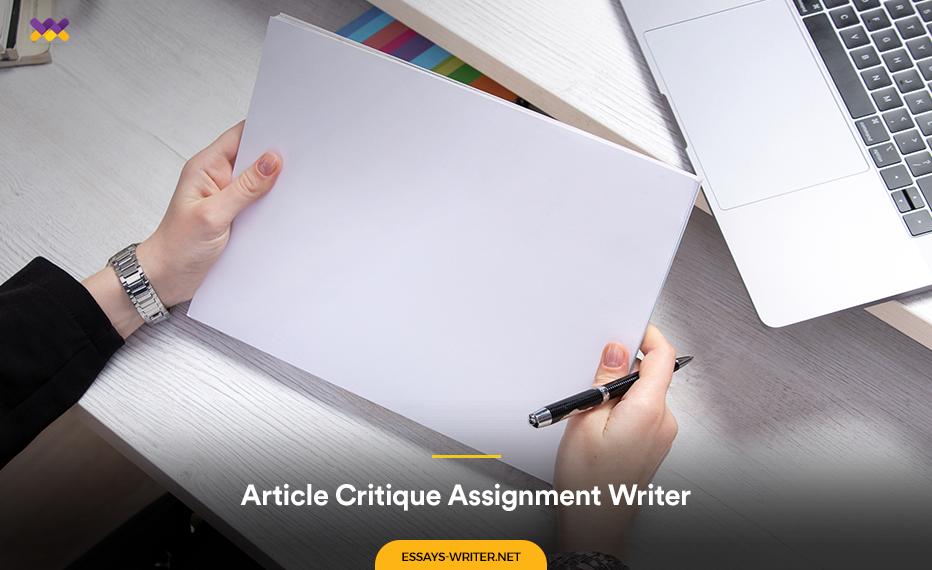 Hire an Article Critique Assignment Writer Online