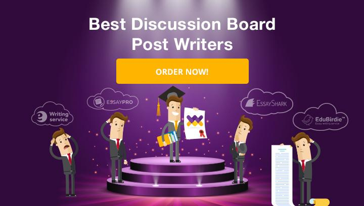 discussion board post writer
