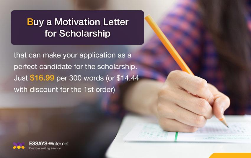 Buy a Motivation Letter for Scholarship