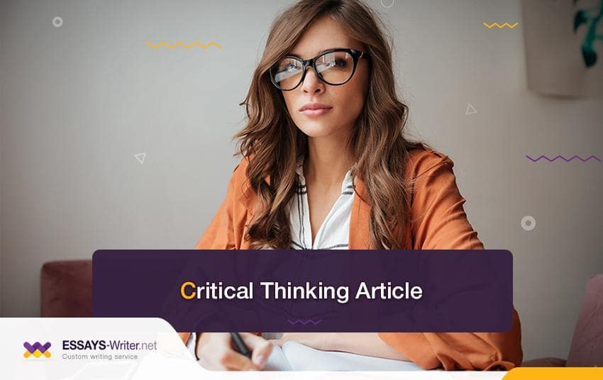 Critical Thinking Article and Critical Analysis